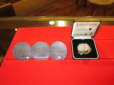 2003 Lord Of The Rings $1.00 Silver Proof Coin Lowest Price With Box & Paper