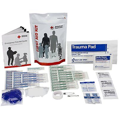 American Red Cross First Aid Zip Kit, Home, Includes 32 Essential Items