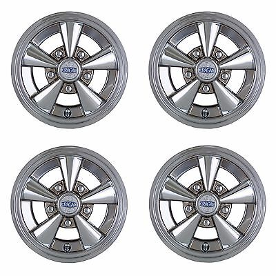 Set Of 4 Golf Cart 10 Quot Chrome Cragar Wheel Covers Hub Caps