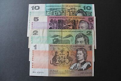 4 X Australian 1967 Coombs/randall Paper Notes .