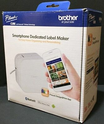 NEW Brother P-touch CUBE Smartphone Dedicated Label Maker w/Bluetooth Wireless