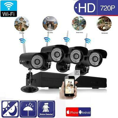 "Wireless 7""TFT LCD 2.4Ghz CCTV DVR Outdoor Night Vision Camera Security System"