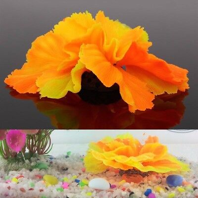 Silicone Aquarium Fish Tank Decor Artificial Coral Plant Underwater Ornament Hot