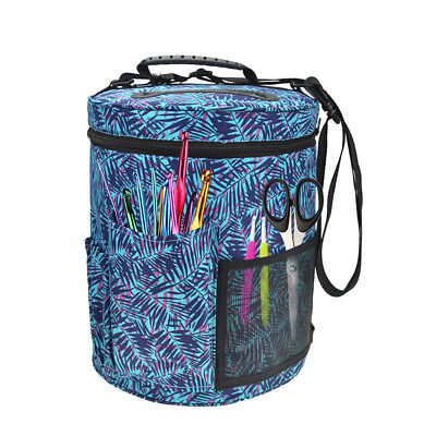 Portable Knitting Yarn Bag Wool Skeins Holder Organiser Storage Basket Tote AU