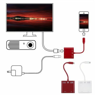 60Hz 8 Pin to HDMI Digital AV Adapter Cable For iPhone X 8 7 6 5 SE iPad Air Pro