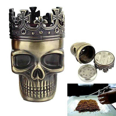 King Skull Herbal Herb Tobacco Grinder Smoke Grinders Crusher Metal