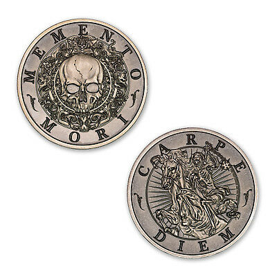 Latin Allure Series Memento Mori 2 oz .999 Silver CHUBBY USA Made Antiqued Round