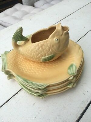 Shorter and Sons, Stoke on Trent (England), 7 piece Fish Set