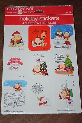 Vintage 1978 Ziggy Christmas Holiday Stickers American Greetings Tom Wilson