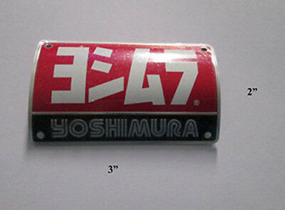 Yoshimura Aluminum Plate Decal Exhaust System Sticker Curved