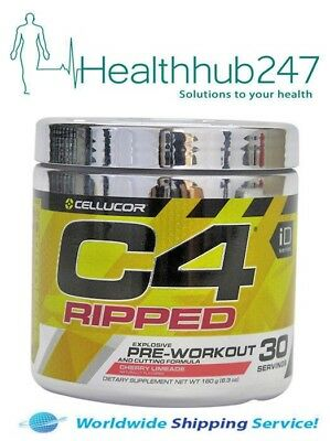 C4 RIPPED 30 Serves Cherry Limeade Explosive Pre-workout & Cutting Cellucor