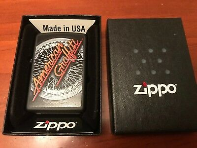American Graffiti Hot Rod Black Matte Zippo Lighter/Rockabilly,Retro,Swing,