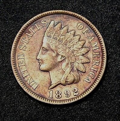 1892 Indian Head Penny With Full Liberty And Diamonds Visible United States