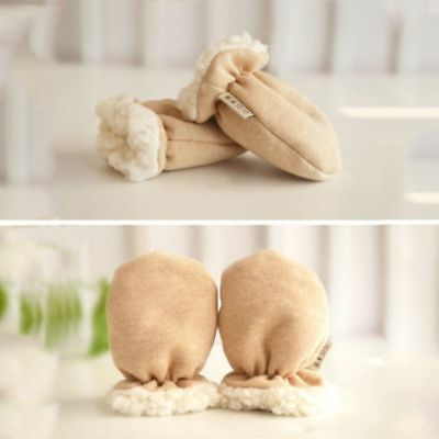 Toddler Christmas Winter Warm Cashmere Mittens Full Finger Baby Gloves