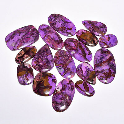 1450Cts 16 Pieces Lot Rock Sugilite Mix Shapes Cabochon Loose Gemstone Z-6254