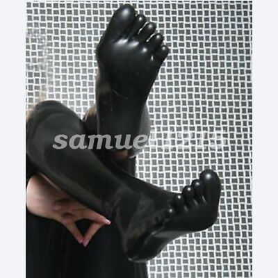 Latex 100% Pure Rubber In The Tube Five Fingers Socks Five Socks Black Size S-XL