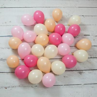 28 Peach Blossom Mini Balloons-Wedding Decorations-Baby Shower Party-Parties