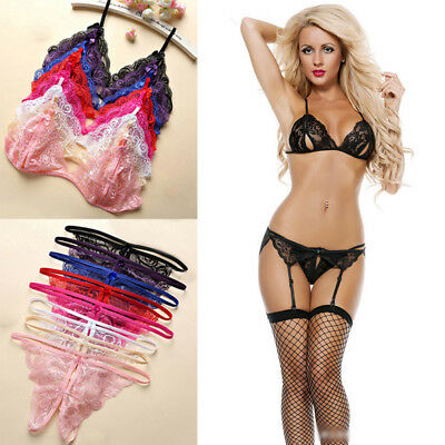 Sexy-Women Lace Lingerie Nightwear Underwear G-string Babydoll Sleepwear Dress