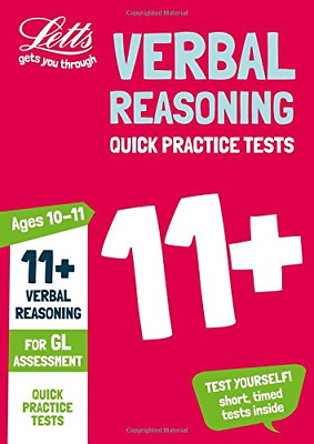 11+ Verbal Reasoning Quick Practice Tests Age 10-11 for the (Paperback) New Book