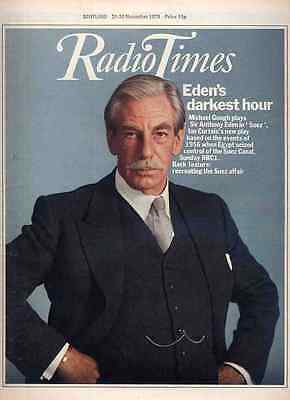Radio Times 24 Nov 1979 . Michael Gough Cover . Doctor Who . 5 Page Lego Advert