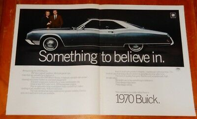 1970 BUICK RIVIERA  LARGE CLASSIC AD - VINTAGE 70s AMERICAN GM RETRO AUTO OLDIE
