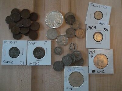 41 old coins Lots of SILVER