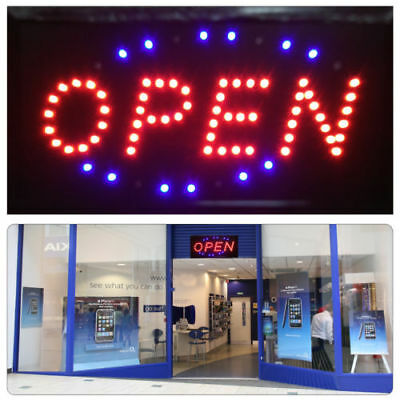 Flashing Led Neon Shop Window Display Open Welcome Sign Hanging Door Bright NEW