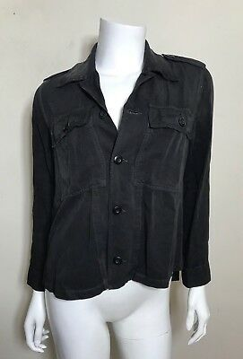 0f9a1ee14a AMO DENIM RUFFLE Army Shirt Jacket In Washed Black  339 -  88.00 ...