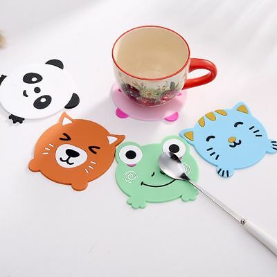 Cartoon Silicone Coaster Coffee Cup Mug Pad Heat Resistant Mat Table Decor