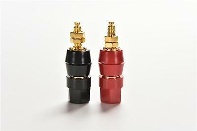 Plug & Connectors 2x Noise Reducing Caps Gold Cap Speaker Amplifier Terminal Binding Post