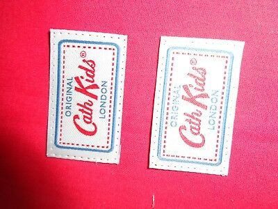 2 X ORIGINAL Cath Kidston London SILK Woven LABEL craft cards applique bags