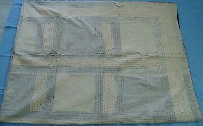 Handmade Golden Thread Hand Embroidery Indian Vintage Tapestry Throw Wall Art