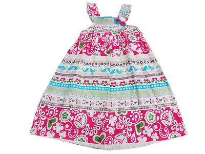 BNWT Girls pretty  multi coloured cotton summer holiday dress size 2-3 years