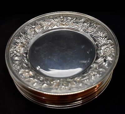 Kirk Repousse Sterling Silver Set Of 12 Bread And Butter Plates All Matching