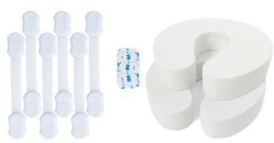 6 Pack Dual Action Child & Baby Safety Locks for Cabinets & Drawers 3M Adhesive