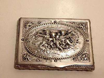 Adolf Meyer Frankfurt .800 silver art nouveau charob card case