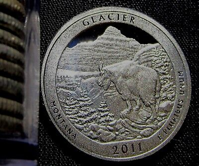 2011-S 25C Glacier NP - Silver DC (Proof) America the Beautiful Quarter
