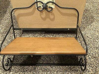 Longaberger Vanity Basket Wrought Iron Utility  Shelf Towel Bar