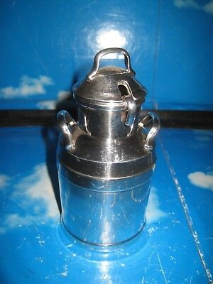 Silver Plated Milk Churn With Ladle For Cream or Sauce