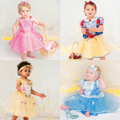 BABY TODDLER GIRLS DELUXE DISNEY FAIRY PRINCESS PARTY DRESS COSTUME OUTFIT 6-24m