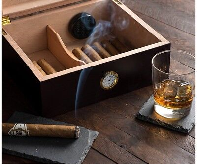 Humidor, Capri-Glass top Father Brother Man Groomsmen Groom Gift