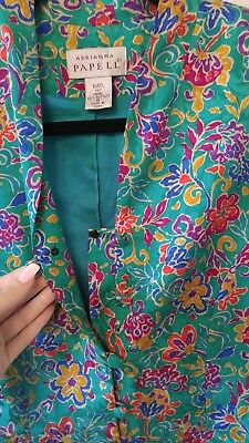 5caf508662800 VINTAGE ADRIANNA PAPELL 100% silk blouse size 6 -  30.00