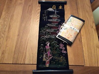 Japanese Hanging Scroll And Lady's Purse