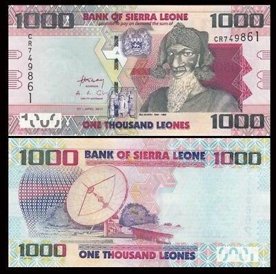 SIERRA LEONE 1000 Leones, 2013(2016), P-30 NEW, UNC World Currency