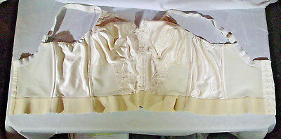 vintage Carnival bra long line corset style beige size 40C Union made