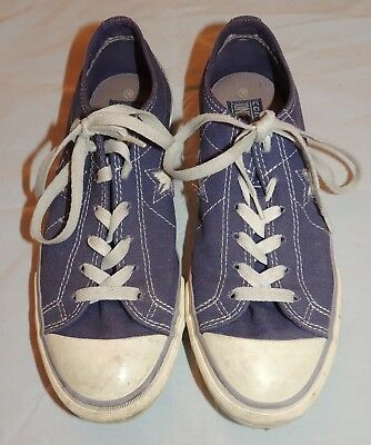 Converse One Star Purple Low Top Sneaker Shoe Womens size 8.5 Lace Up