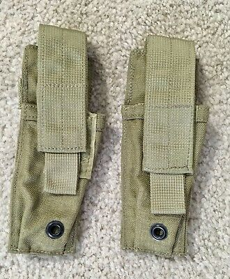 Lot Of 2 - Eagle MLCS Extended 9mm Pistol Mag Pouch SEAL MBSS DGLCS RRV