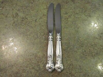 Two Beautiful CHANTILLY GORHAM Sterling Silver Dinner Knife Set No Monograms
