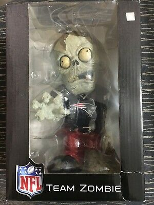 TEAM ZOMBIE New England Patriots FOREVER NIGHTMARES BOBBLE HEAD DOLL NEW in Box