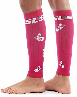 SLS3 Women's FX Compression Butterfly Sleeves, Hibiscus/White, Small/Medium